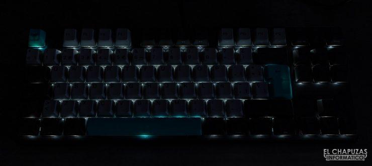 Varmilo VA88M - Iluminación a oscuras