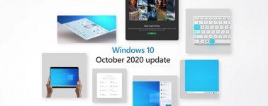 Microsoft lanza la actualización Windows 10 October 2020 Update
