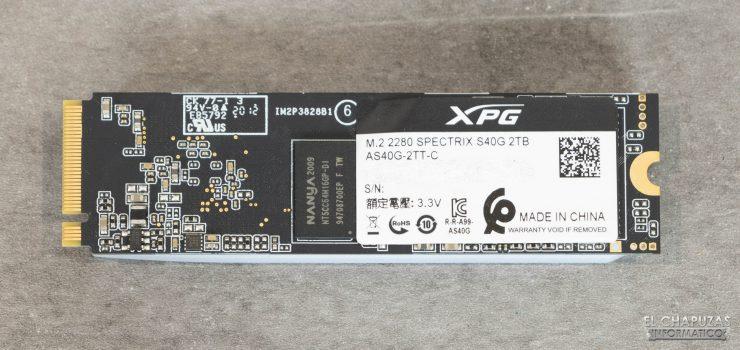 XPG Spectrix S40G - Vista posterior