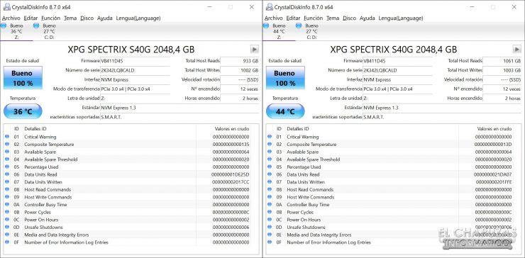 XPG Spectrix S40G - Tests 1