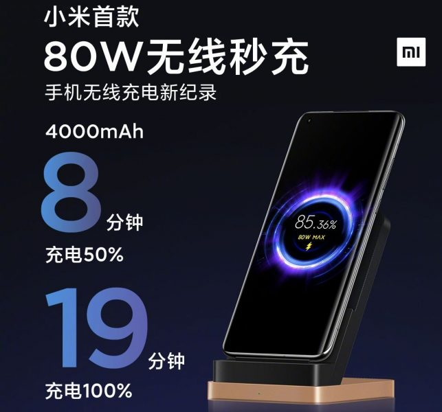 Carga inalámbrica de 80W de Xiaomi