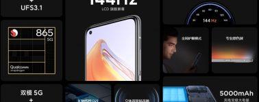 Xiaomi Redmi K30S: IPS de 6.67″ @ 144 Hz con Snapdragon 865 y 5000 mAh