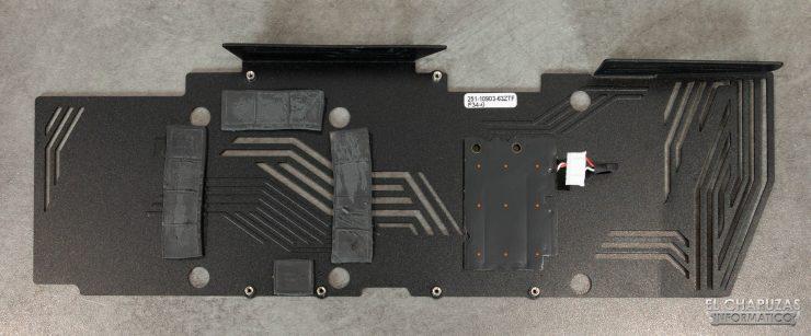Zotac Gaming GeForce RTX 3090 Trinity - Backplate desmontado