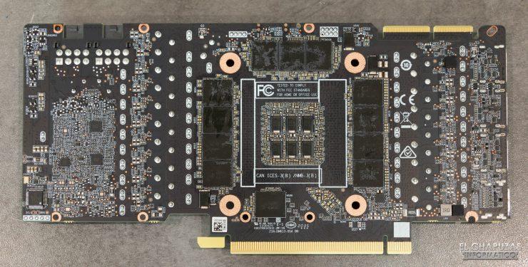 Zotac Gaming GeForce RTX 3090 Trinity - PCB trasero