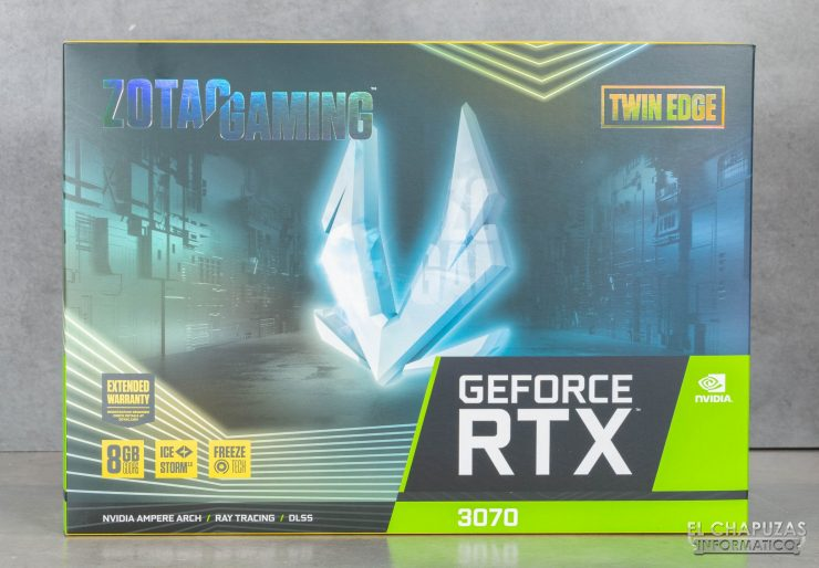 Zotac GeForce RTX 3070 Twin Edge - Embalaje frontal