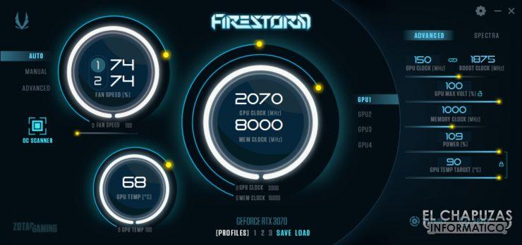 Zotac GeForce RTX 3070 Twin Edge - FireStorm