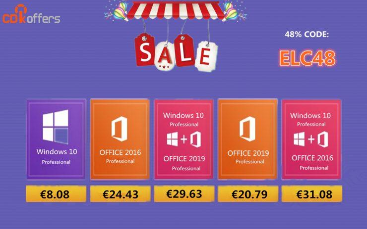 licencias de Windows 10 y Office durante esta semana en CDKoffers