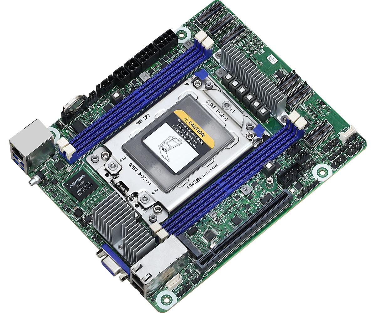 ASRock Rack ROMED4ID-2T: Placa base en formato Deep Mini-ITX para CPUs AMD EPYC