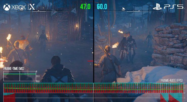 Assassin's Creed Valhalla en Xbox Series X vs PlayStation 5