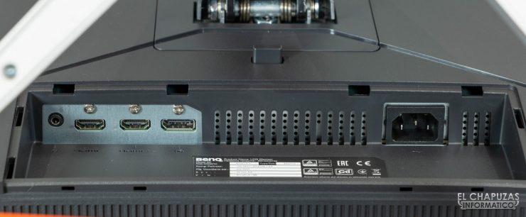 BenQ Mobiuz EX2710 - Conectores
