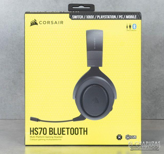 Corsair HS70 Bluetooth - Embalaje frontal