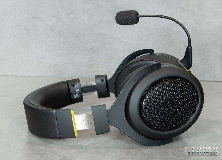 Corsair HS70 Bluetooth - Diadema abierta y cúpulas