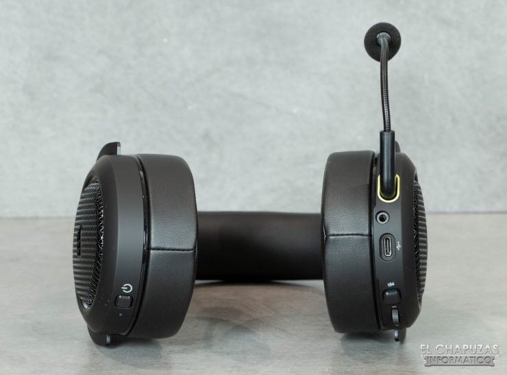 Corsair HS70 Bluetooth - Vista inferior