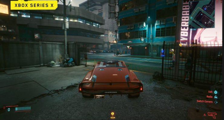 Cyberpunk 2077 en Xbox Series X