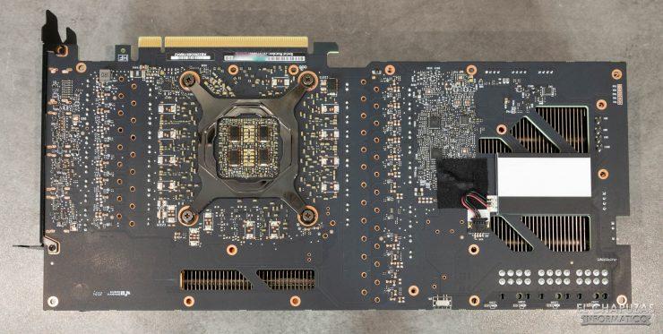 EVGA GeForce RTX 3080 FTW3 Ultra - PCB trasero
