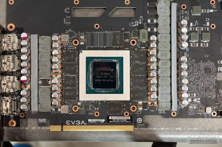 EVGA GeForce RTX 3080 FTW3 Ultra - PCB detalle