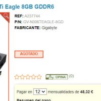 Las Nvidia GeForce RTX 3060 Ti Custom aparecen listadas a unos precios de partida de 483 euros