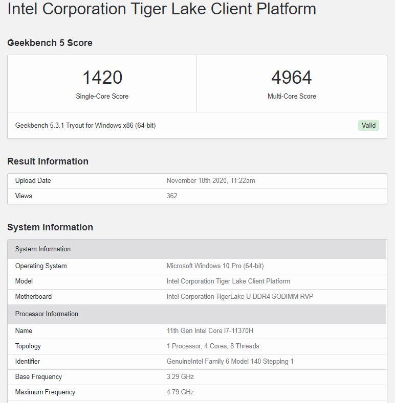 Intel Core i7-11370H vs AM Radeon 5 4600H