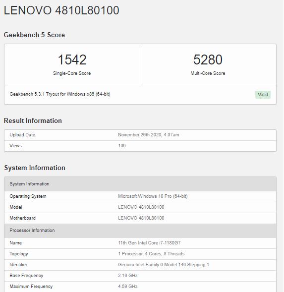 Intel Core i7-1180G7