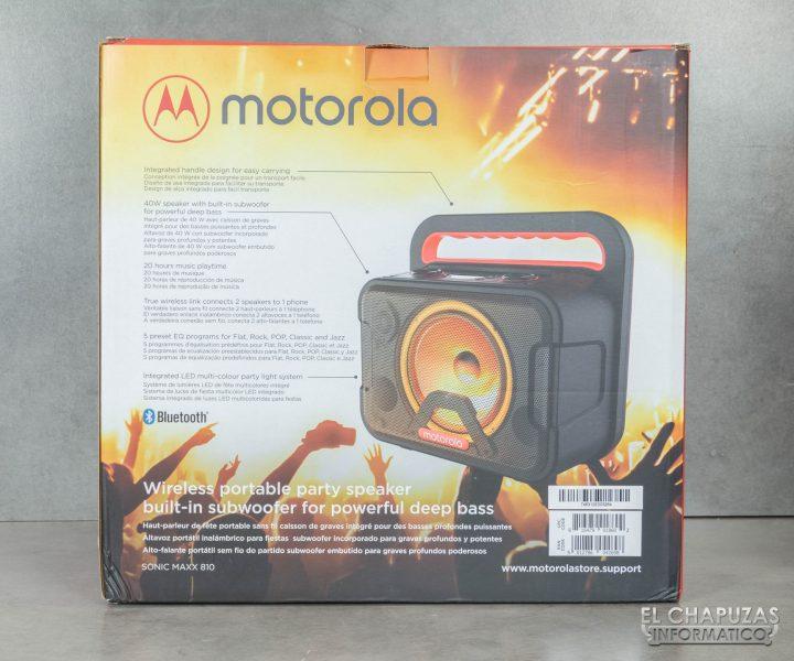 Motorola Sonic Maxx 810 - Embalaje 2