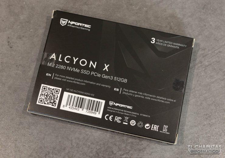 Nfortec Alcyon X - Embalaje trasero