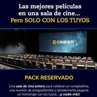 Cinesa alquila sus salas de cine para que puedas jugar a pantalla gigante por 250 euros