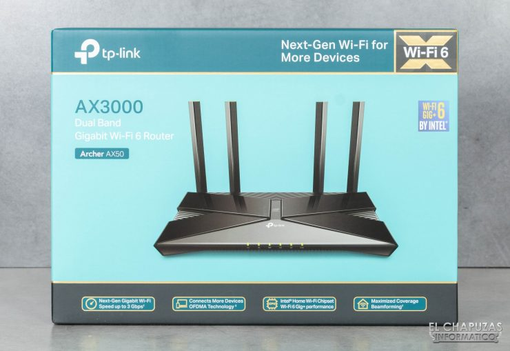 TP-Link Archer AX50 - Embalaje frontal