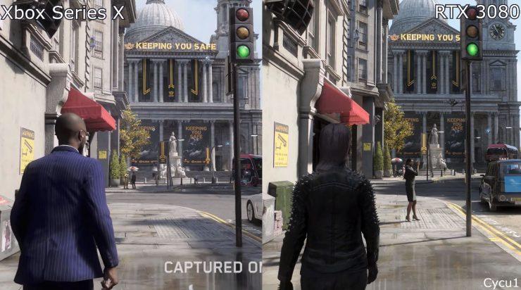 Watch Dogs Legios en Xbox Series X vs Nvidia GeForce RTX 3080 740x412 0