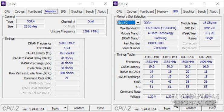 XPG Spectrix D50 - CPU-Z