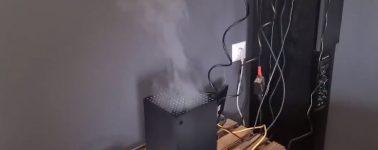 La Xbox Series X que soltaba humo realmente estaba dañada y no era humo de un vaper