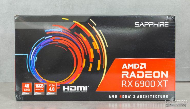 AMD Radeon RX 6900 XT - Embalaje frontal