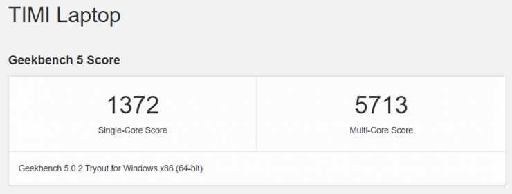 AMD Ryzen 5 5600H en Geekbench 5