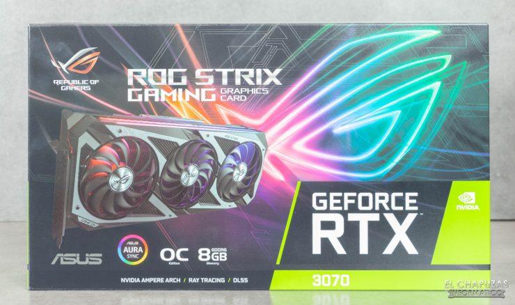 Asus ROG Strix GeForce RTX 3070 OC - Embalaje frontal