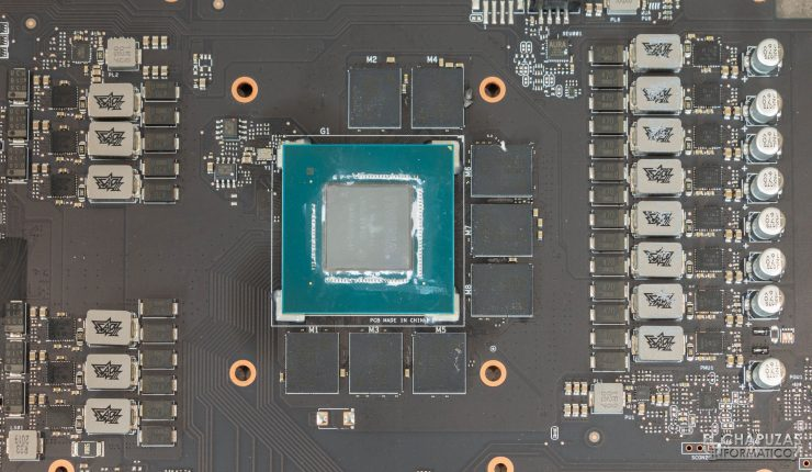 Asus ROG Strix GeForce RTX 3070 OC - núcleo