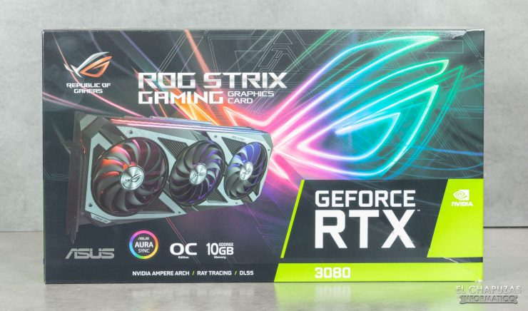 Asus ROG Strix GeForce RTX 3080 OC - Embalaje frontal