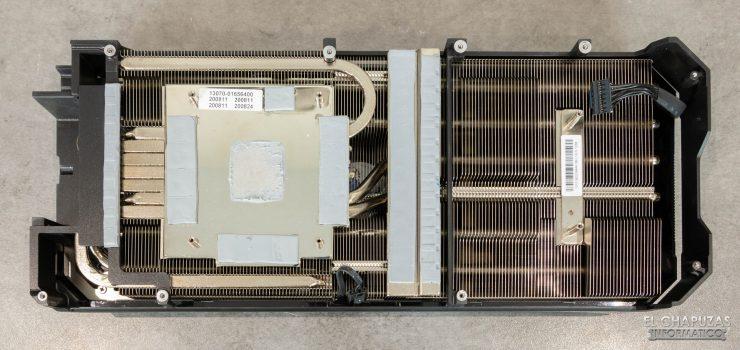 Asus ROG Strix GeForce RTX 3080 OC - Disipador desmontado