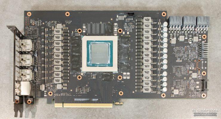 Asus ROG Strix GeForce RTX 3080 OC - PCB frontal