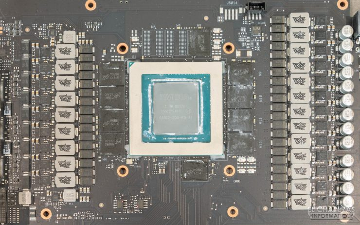 Asus ROG Strix GeForce RTX 3080 OC - Núcleo, memorias y VRM
