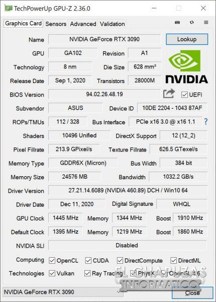 Asus ROG Strix GeForce RTX 3090 OC - OC 1