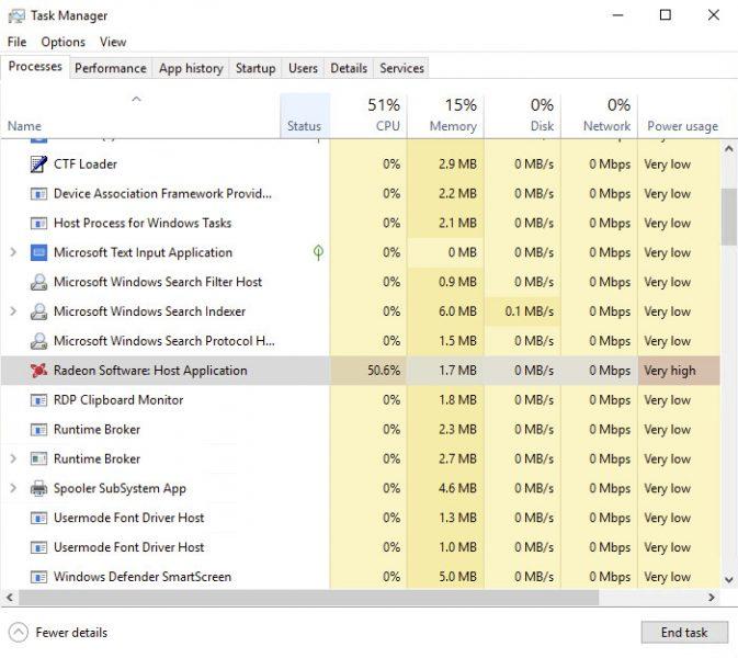 Carga de uso del software de AMD sin una GPU Radeon
