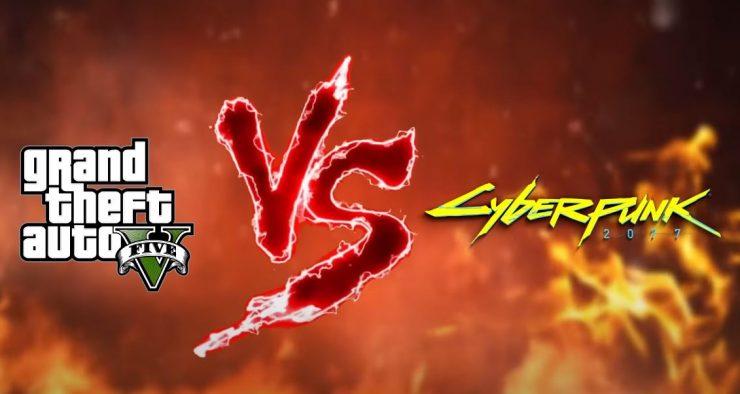 Cyberpunk 2077 vs Grand Theft Auto V