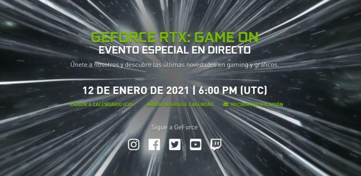 Evento Nvidia GeForce RTX CES 2021