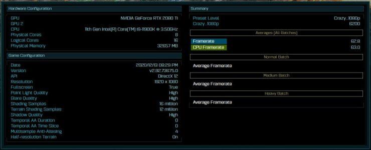 Core i9-11900K en el benchmark de AotS