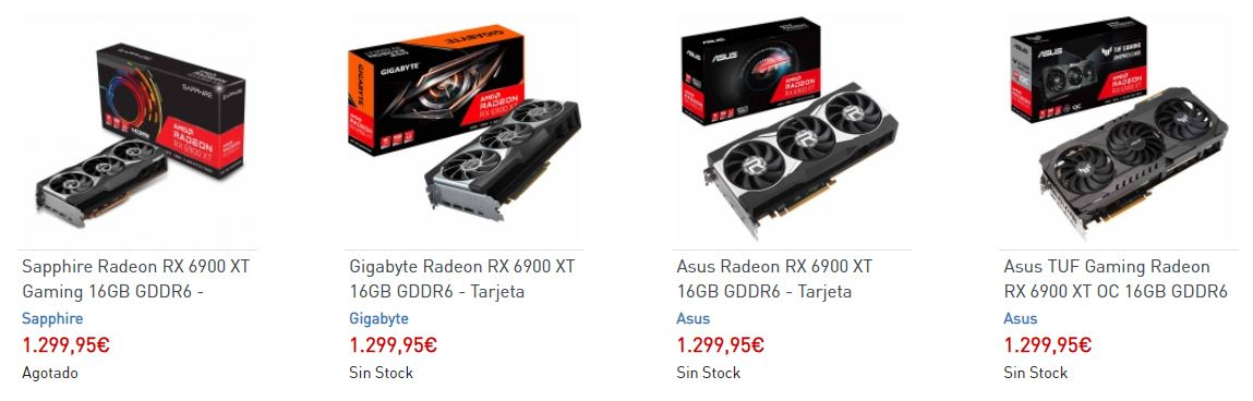 Stock AMD Radeon RX 6900 XT