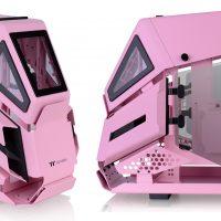 Thermaltake AH T200 Pink: Chasis Micro-ATX en forma de un mech de color rosa