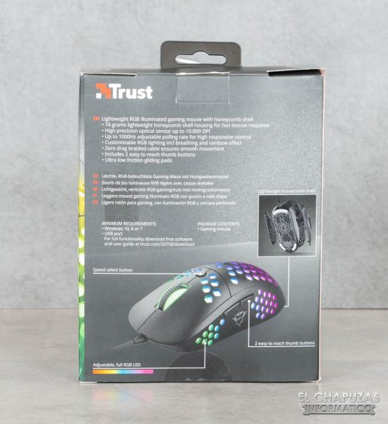 Trust GXT 960 Graphin - Embalaje trasero