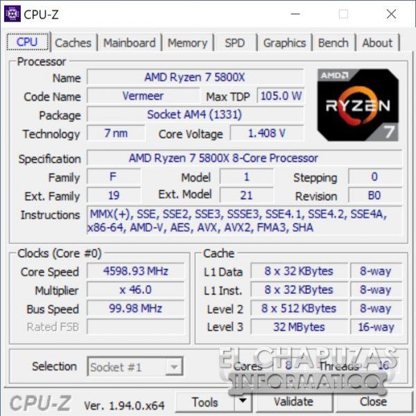 AMD Ryzen 7 5800X - OC