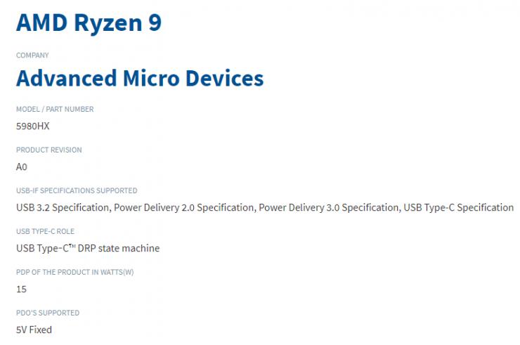 AMD Ryzen 9 5950HX
