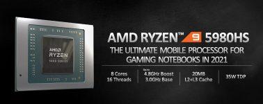 AMD anuncia sus procesadores Ryzen 5000 para equipos portátiles: Mayor rendimiento y autonomía