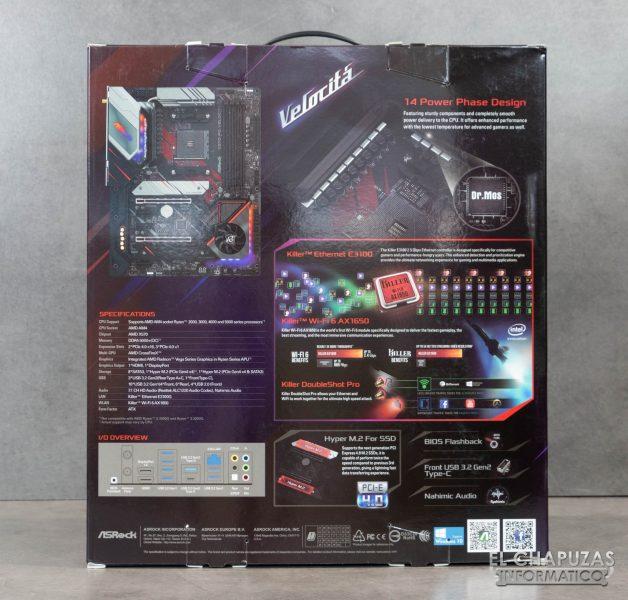 ASRock X570 PC Velocita - Embalaje 2